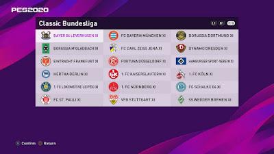 PES 2020 PS4 Classic Option File Bundesliga by Pavel Valka