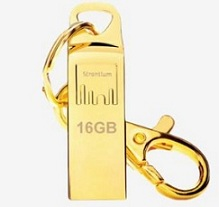 Strontium 16 GB Pen Drive (24 Carat Gold-Plated ) for Rs.299 @ Tatacliq