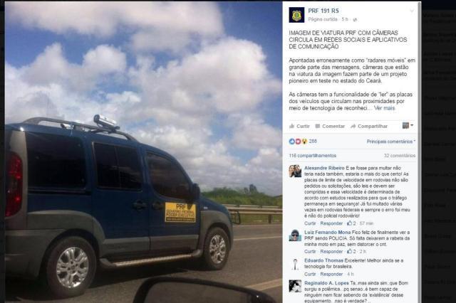 Radar no teto de viatura da PRF para multar veículos em alta velocidade? Saiba qual a verdade