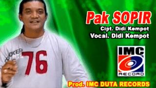 Lirik Lagu Pak Sopir - Didi Kempot