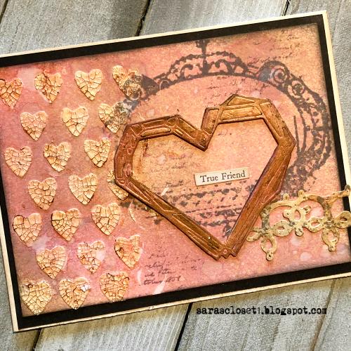 Sara Emily Barker https://sarascloset1.blogspot.com/ Tim Holtz Sizzix Geo Frames Crochet 2 Valentine Card Set Tutorial 7