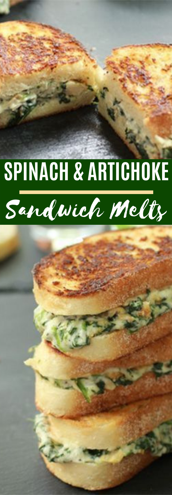 Spinach and Artichoke Melts #vegetarian #breakfast