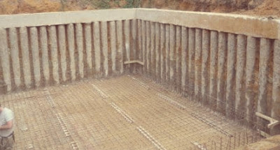جدران الخوازيق -Piled Retaining Wall