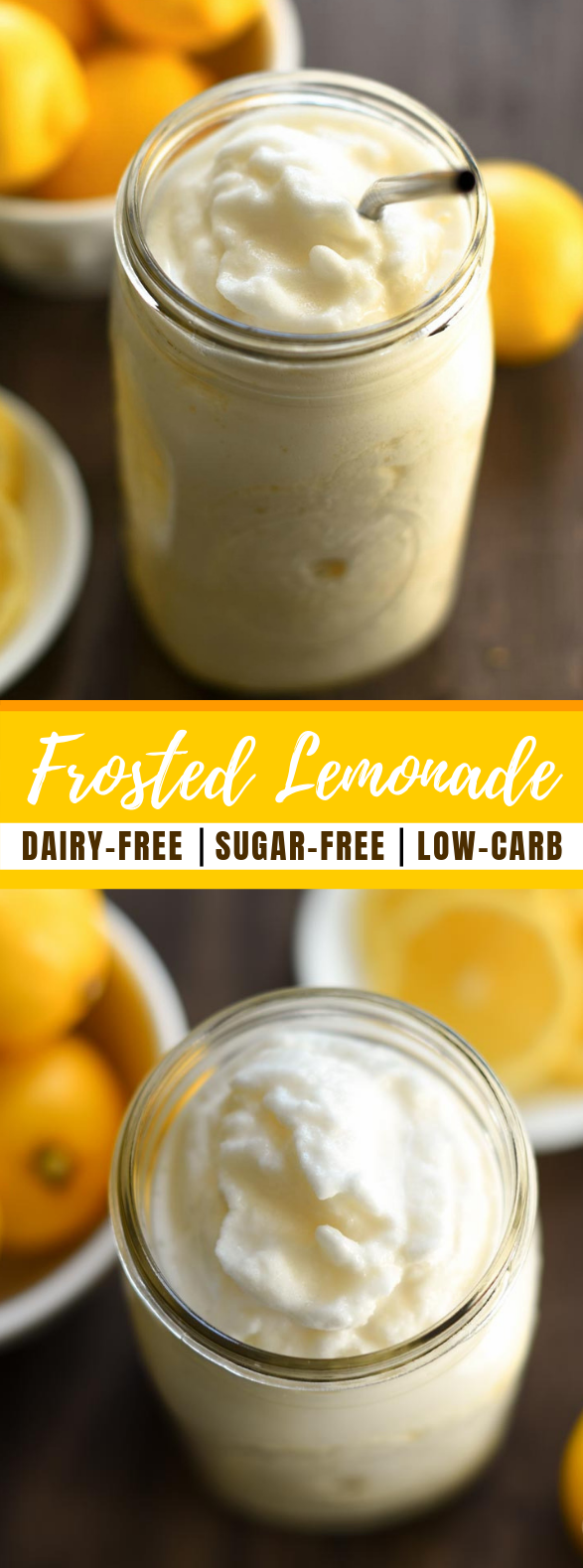 Frosted Lemonade – Dairy Free, Sugar Free #drinks #healthydrink