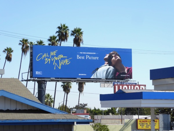 Call Me By Your Name film billboard