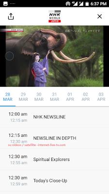 internet live tv international NHK News channel free Malaysia