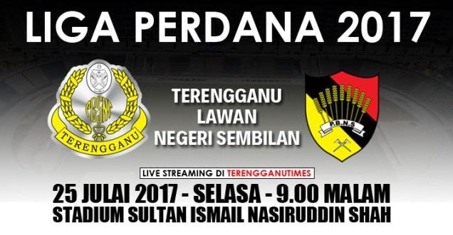 Live Streaming Terengganu Vs Negeri Sembilan Liga Perdana 25/Julai/2017