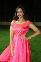 Actress Pujita Ponnada in beautiful red dress at Darshakudu music launch ~ Celebrities Galleries 048.JPG