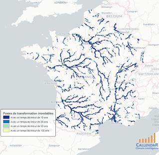 Risque d'inondation sur le réseau de distribution électrique