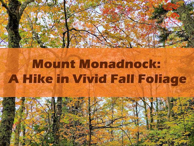 mount monadnock hike in vivid fall foliage
