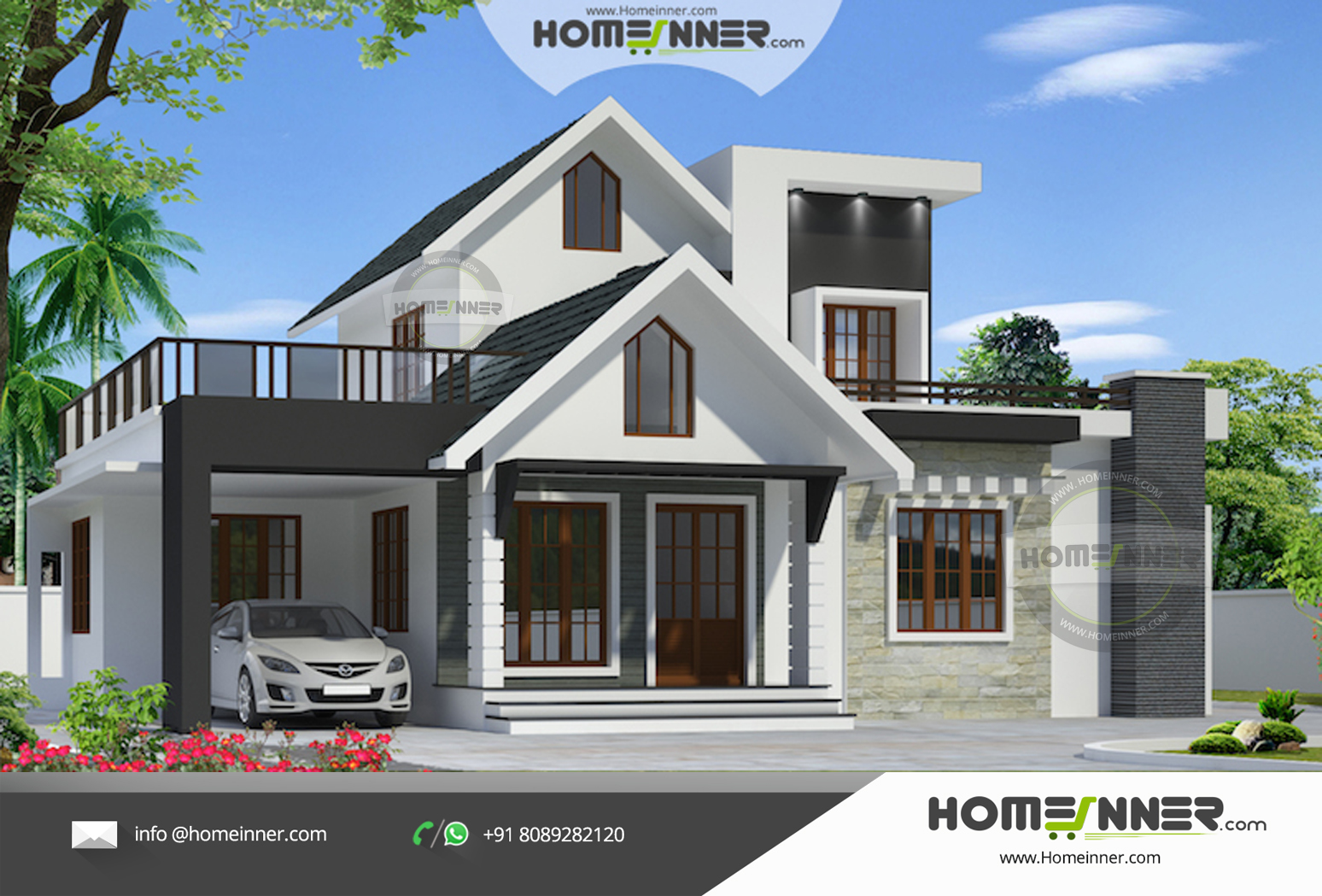 Small and beautiful 3 bedroom Indian Home Design in 1490 sqft