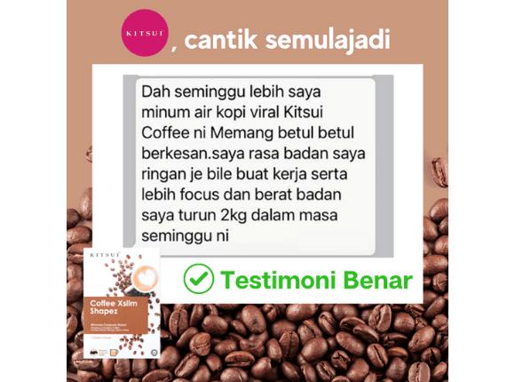 Testimoni Pengguna  Kitsui Coffee Xslim Shapez 4