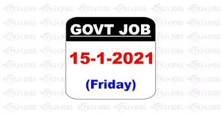 Latest Govt Jobs 15 January 2021