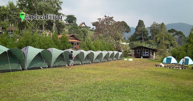 kemah dan Outbound Komunitas di Pine Forest Camp lembang