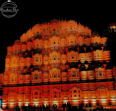 Hawa mahal view at night