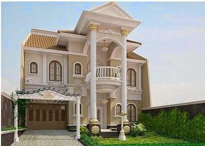 Gambar Rumah Eropa Klasik Desain Modern Tipe Terbaru