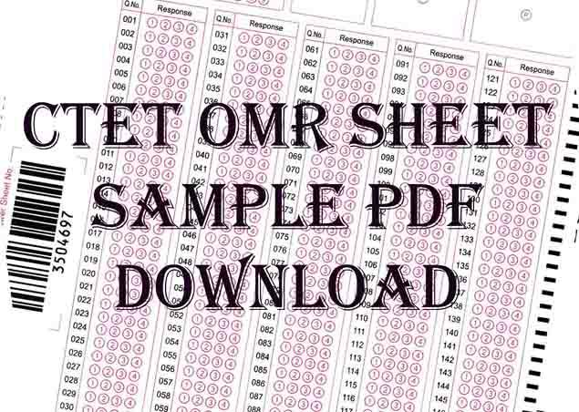 CTET OMR Sheet Sample Pdf download