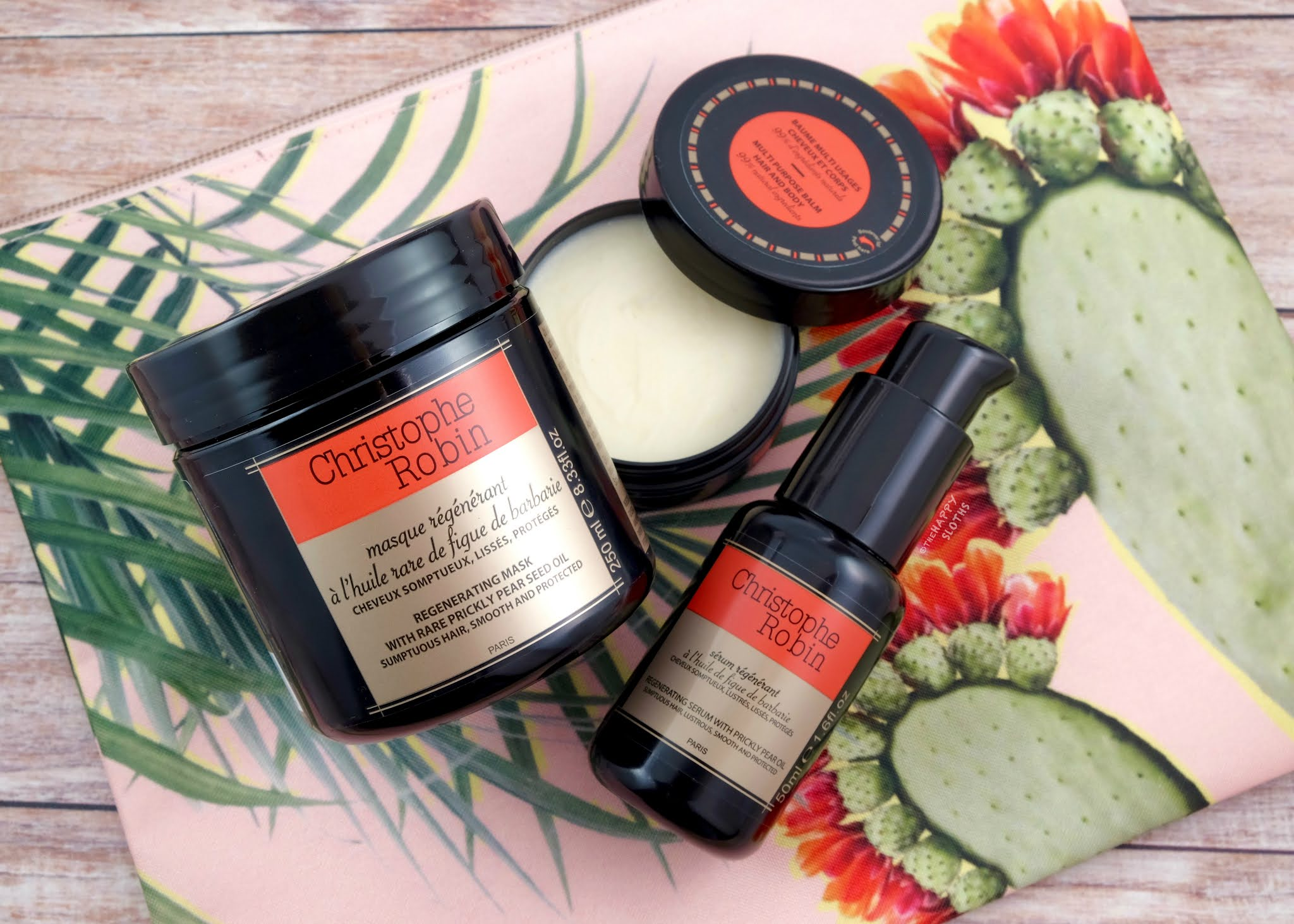 Christophe Robin | Regenerating Hair Mask with Prickly Pear Seed Oil, Regenerating Hair Serum & Multipurpose Regenerating Balm: Review