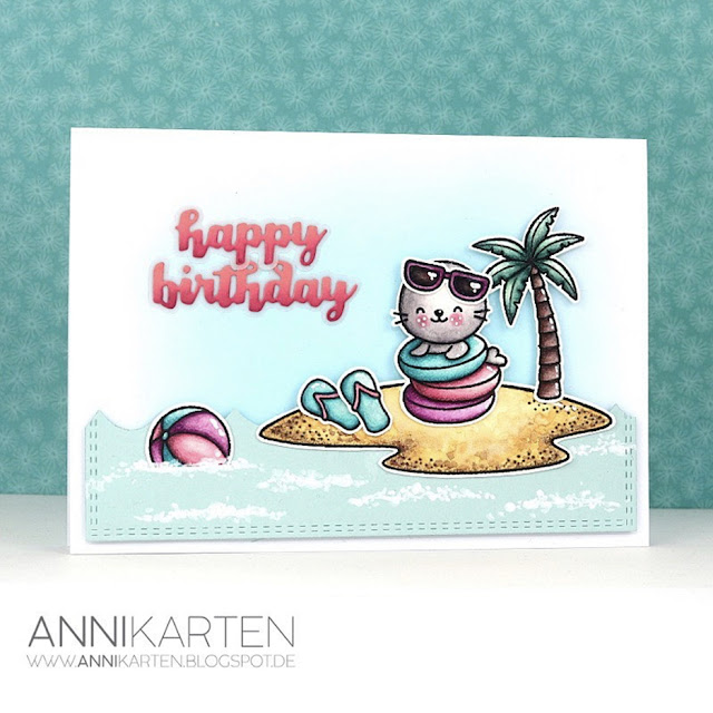 Sunny Studio Stamps: Sealiously Sweet Tropical Scenes Customer Card by Anika Lerche