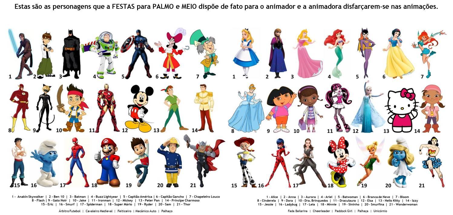 Fatos personagens animação infantil
