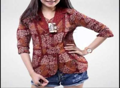 baju batik modis untuk orang gemuk