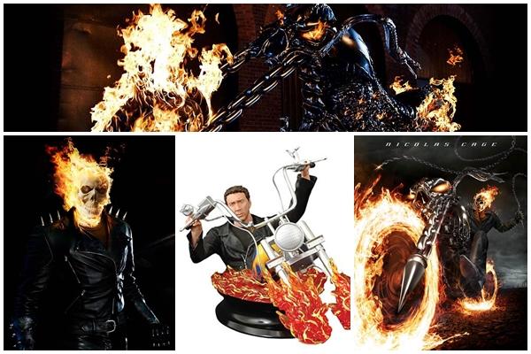Celebrities, Movies and Games: Nicolas Cage as Johnny Blaze