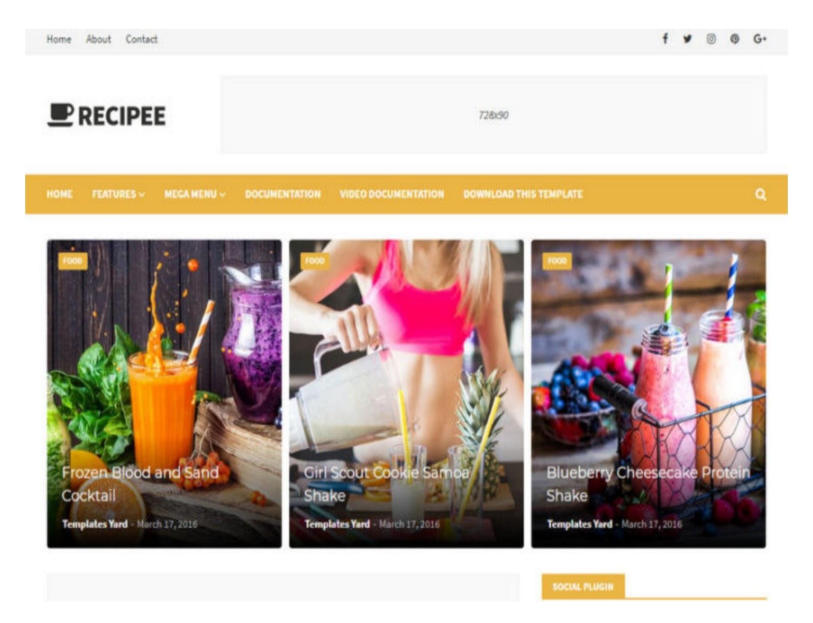 Recipee Blogger Template