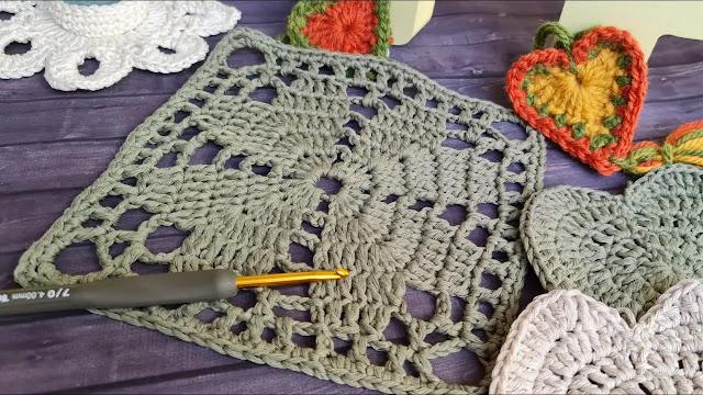 Paso a Paso de Granny de Corazones a Crochet