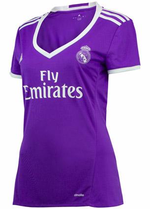 segunda camiseta mujer Real Madrid 2016-2017