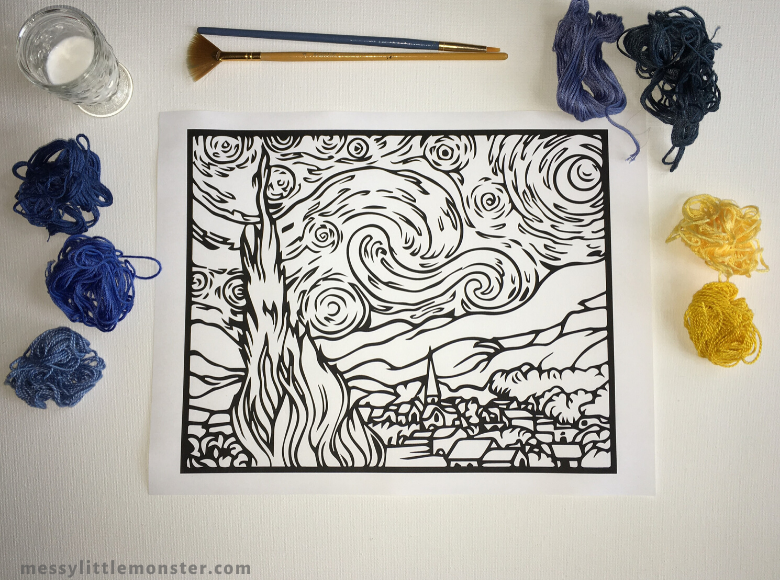 Vincent Van Gogh The Starry Night printable
