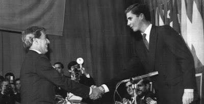 Mario Vargas Llosa al recibir el Premio Príncipe de Asturias