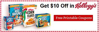 Print $10 off in Kellogg's Coupons.