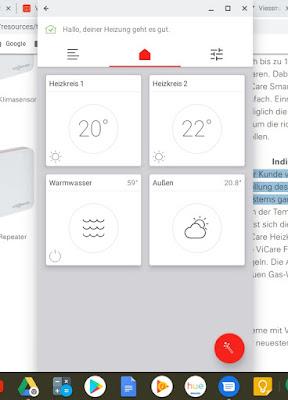 ViCare Smart Climate App auf Chromebook