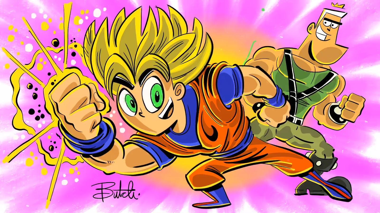 Goku z Dragon Ball Z w stylu Wróżków chrzestnych