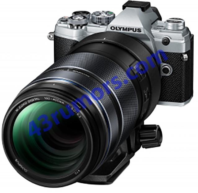 Объектив Olympus M.Zuiko Digital ED 100-400mm f/5.0-6.3 IS, установленный на камеру
