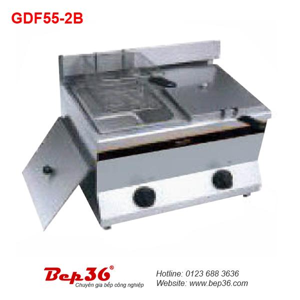 Bếp chiên nhúng đôi dùng gas GDF55-2B tại Thanh Hóa