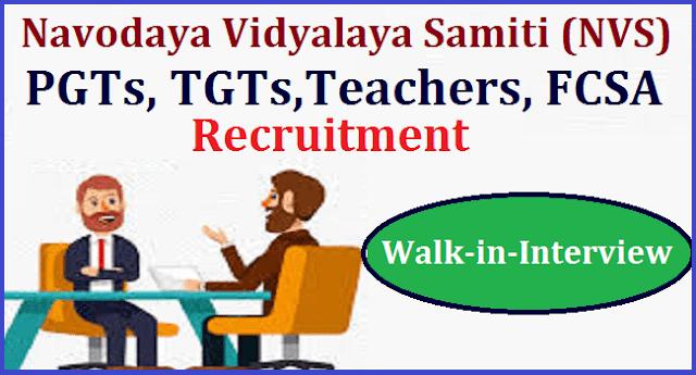 latest jobs, TS State, TS Jobs, Teaching Faculty, AP State, AP Jobs, JNVS, NVS Recruitment, Navodaya Vidyalaya Samiti, Walk-in Interview