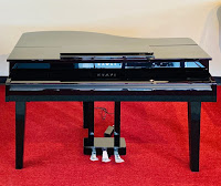 Kawai DG30 digital mini grand piano with top closed