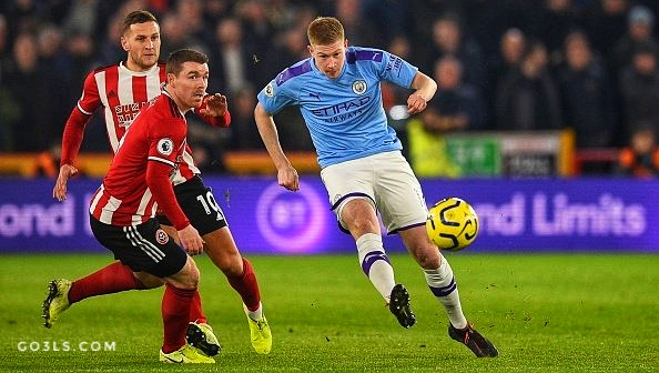 Manchester City pictures against Sheffield United