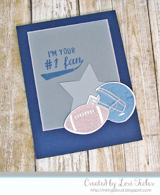 I'm Your #1 Fan card-designed by Lori Tecler/Inking Aloud-stamps and dies from Papertrey Ink