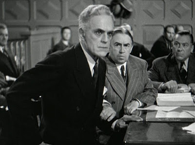 Still - Boris Karloff in court in The Man They Could Not Hang (1939)