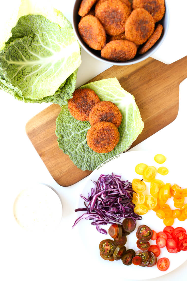 Baked falafel   danceofstoves.com #vegan