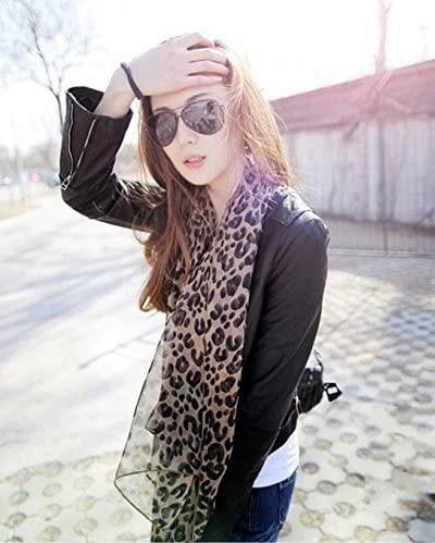 Best Leopard Print Silky Chiffon Scarf