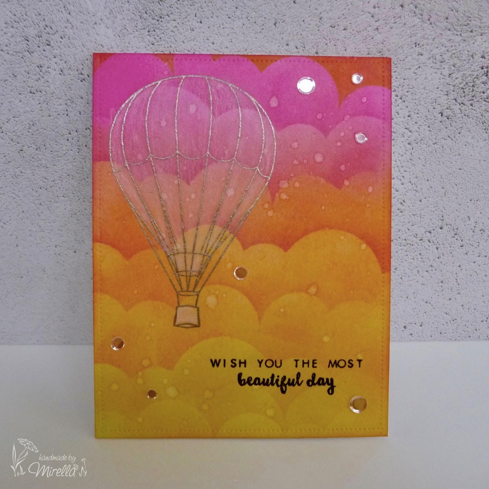 Handmade By Mirella Altenew Baby Balloon Distress Ink Blending