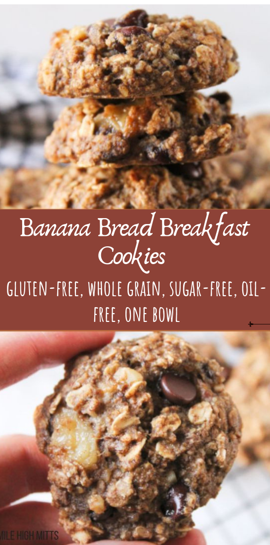 Banana Bread Breakfast Cookies #desserts #cakerecipe