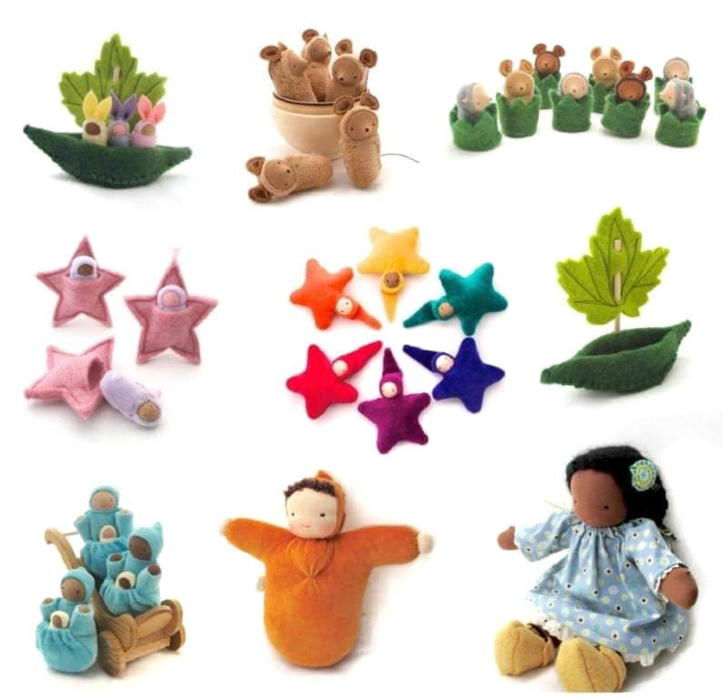 fairy shadow waldorf dolls and toys