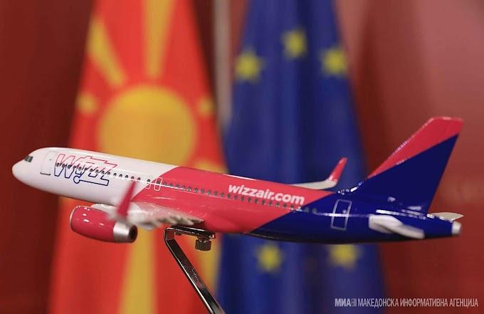 Wizz Air startet vier neue Fluglinien von Mazedonien in drei europäische Länder