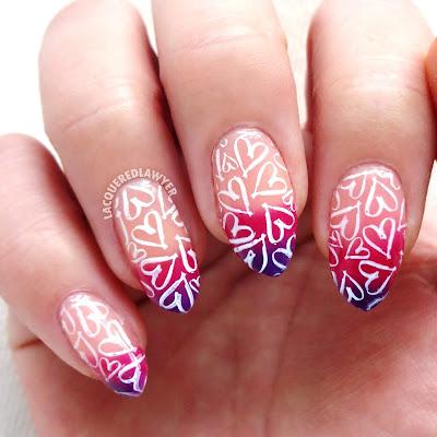 Heated Hearts Nails