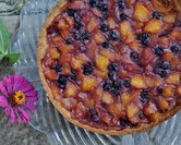 August - Peach Blueberry Cake