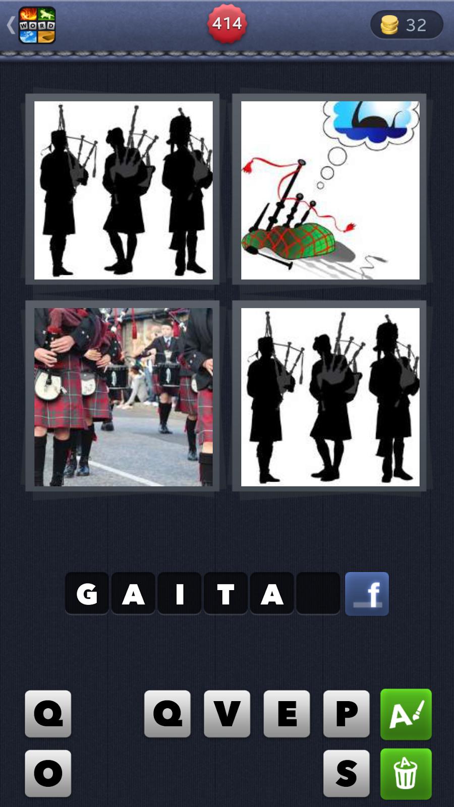 4 Fotos 1 Palabra 8 letras Soluciones